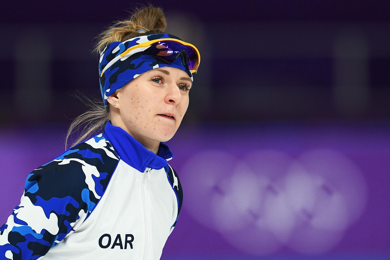 <p><span>Наталия Воронина перед забегом на 3000 метров в соревнованиях по конькобежному спорту среди женщин на XXIII зимних Олимпийских играх.</span></p> <p><span>Фото:&nbsp;&nbsp;</span><span>&copy;&nbsp;</span><span>РИА Новости/Рамиль Ситдиков</span></p>