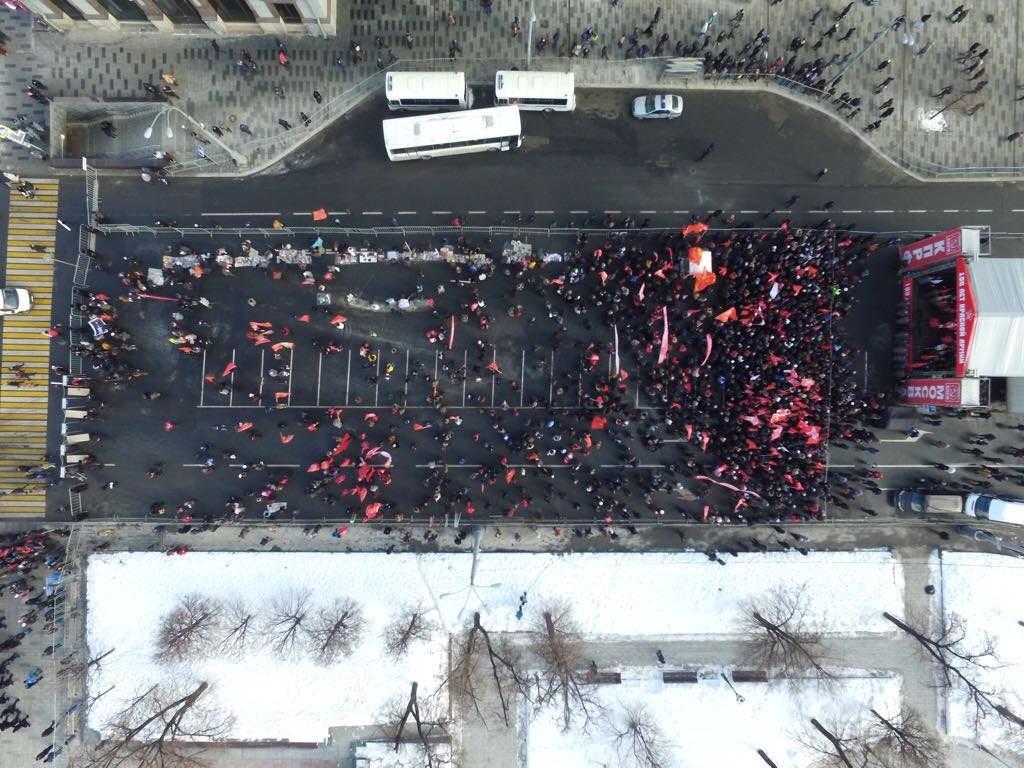 <p>Митинг КПРФ в Москве, вид с коптера. Фото: &copy;L!FE</p>