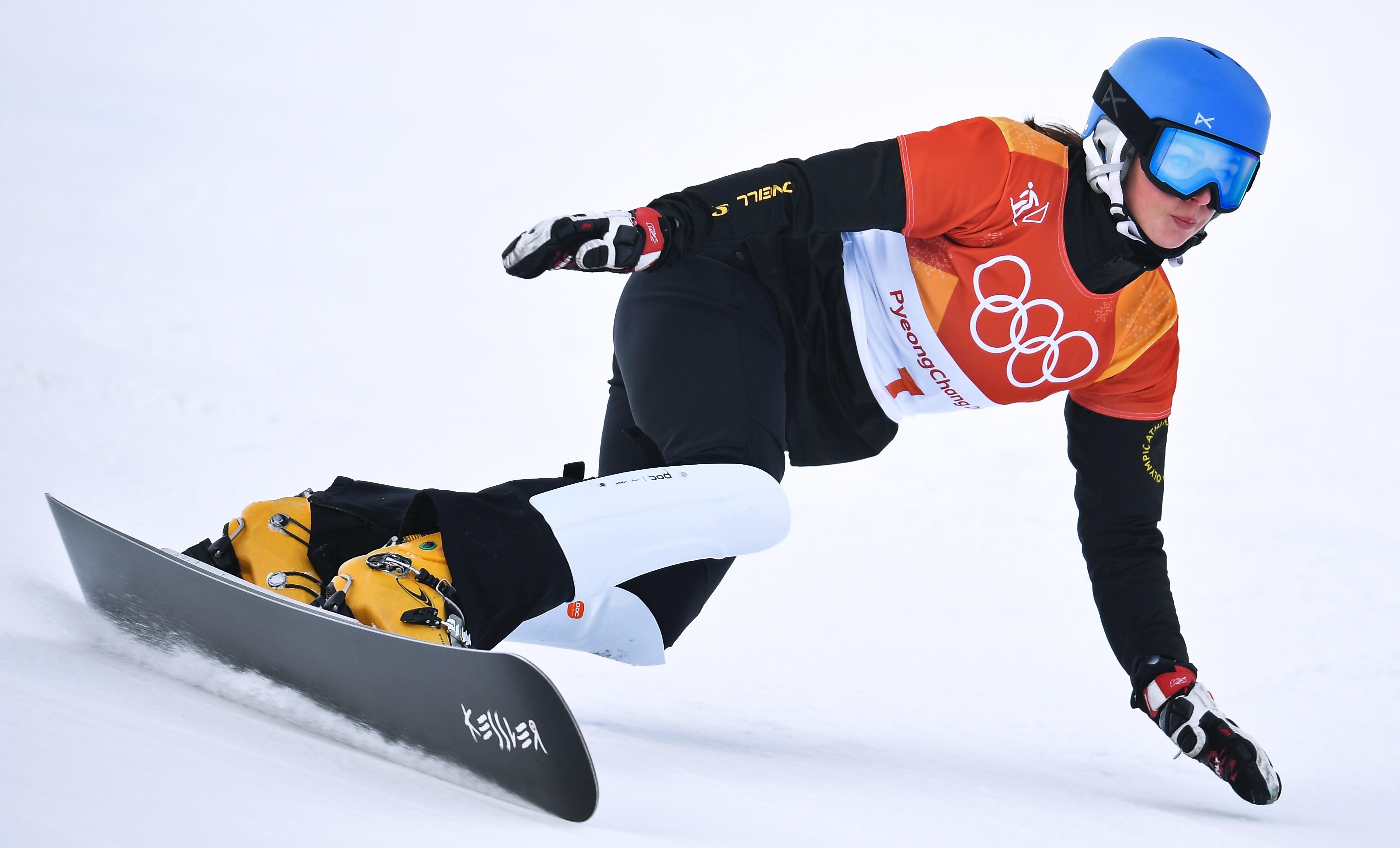 Российская сноубордистка Алёна Заварзина в финале стала четвёртой. Фото: РИА Новости/Владимир Астапкович