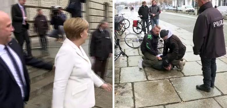 Задержание нападавшего. Фото: ©welt.de