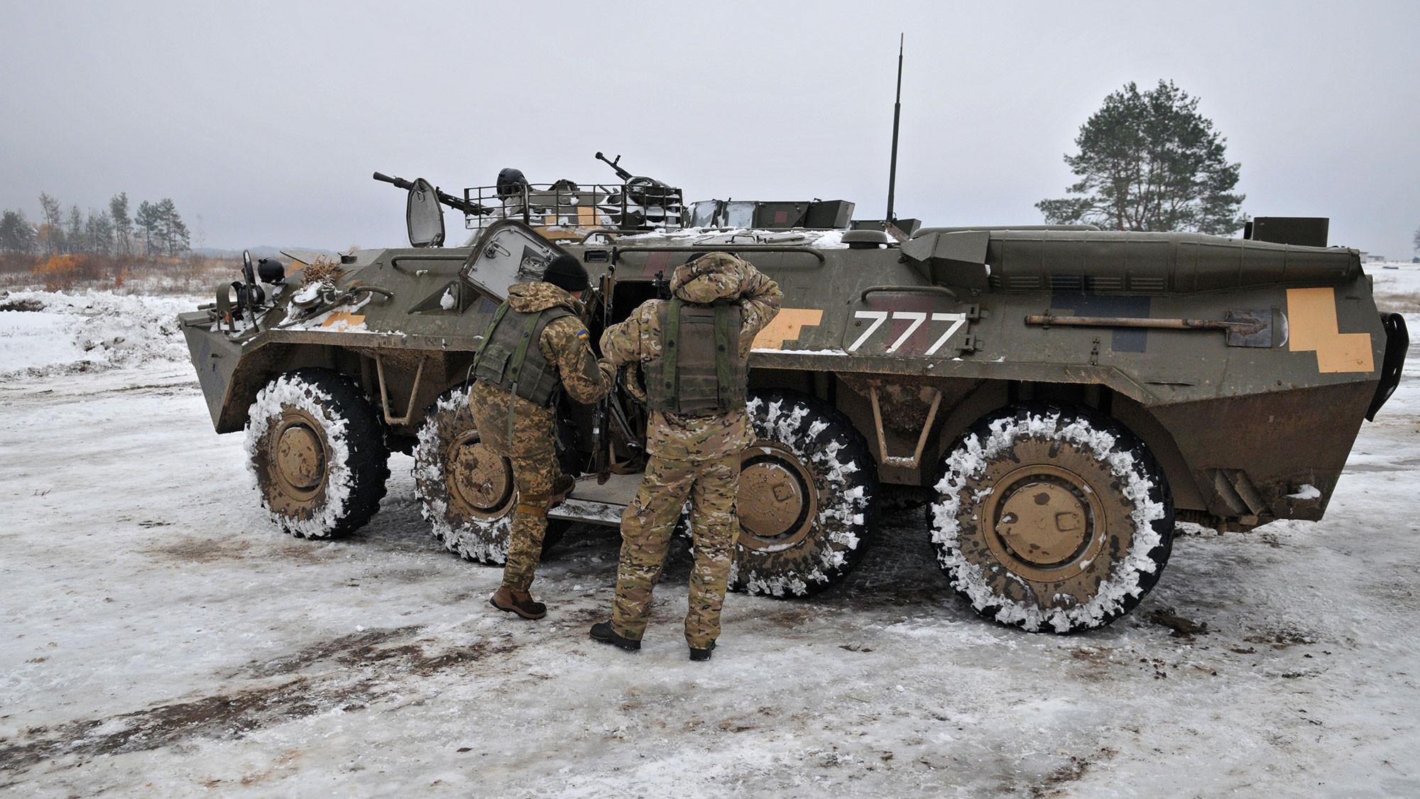 <p>Украинский БТР. Фото: &copy; РИА Новости</p>