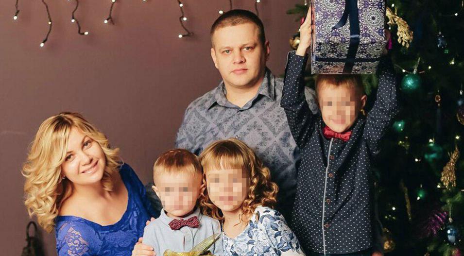 Игорь Востриков с женой и детьми. Фото: vk.com