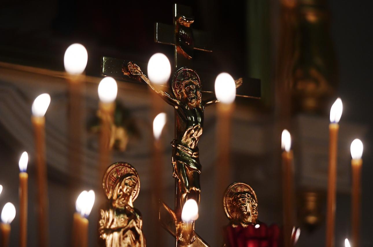 Пасхальное богослужение в храме Сошествия Святого Духа в Казани. Фото: © РИА Новости / Максим Богодвид