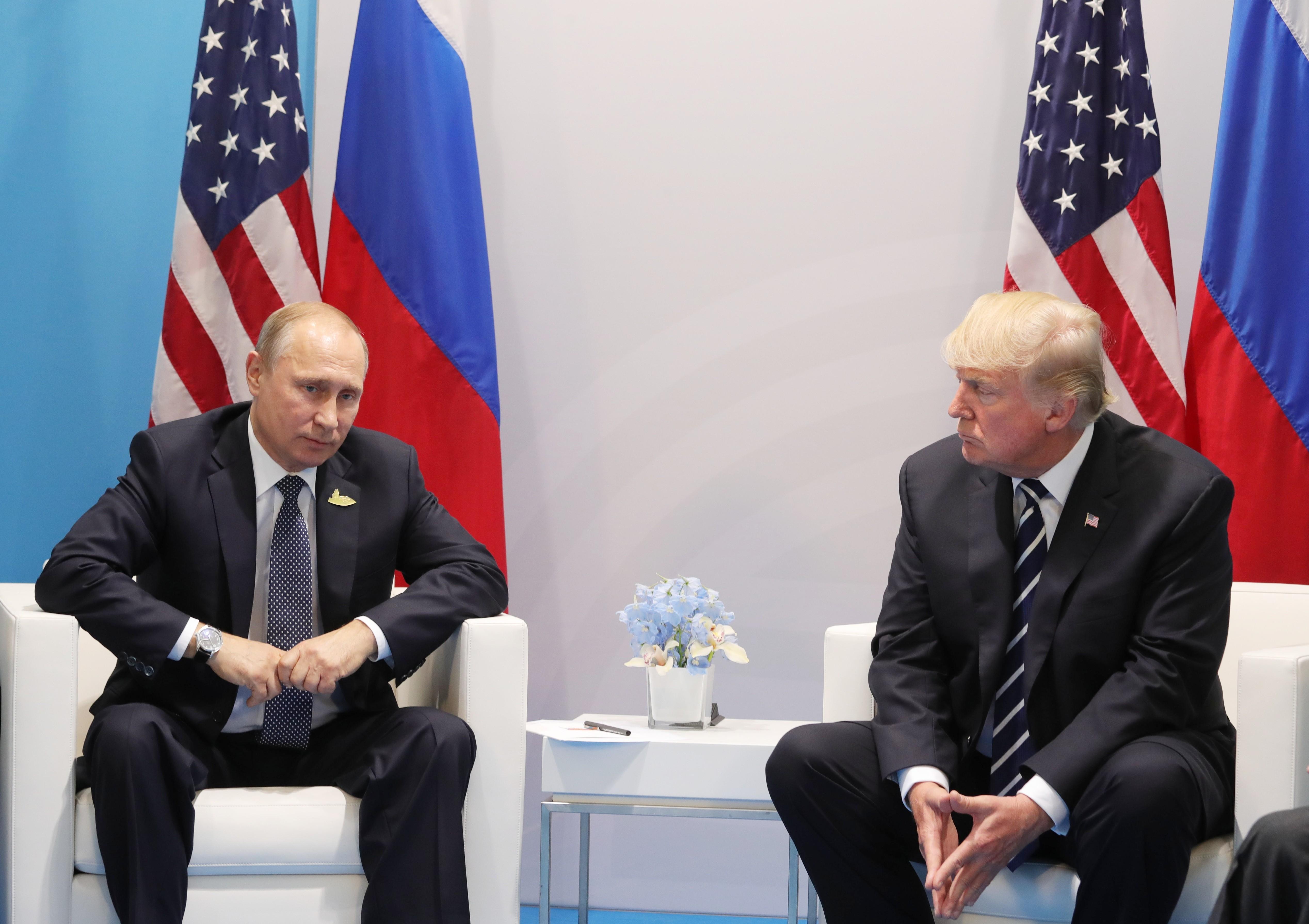 <p><span>Президент РФ Владимир Путин и президент США Дональд Трамп. Фото: &copy;РИА Новости/Михаил Климентьев</span></p>