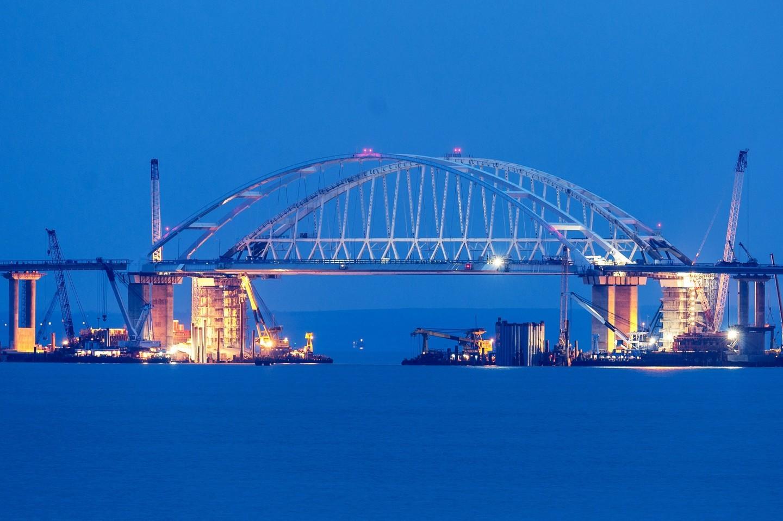 <p><span>Строительство Крымского моста через Керченский пролив. Фото: &copy;РИА Новости/Алексей Мальгавко</span></p>
