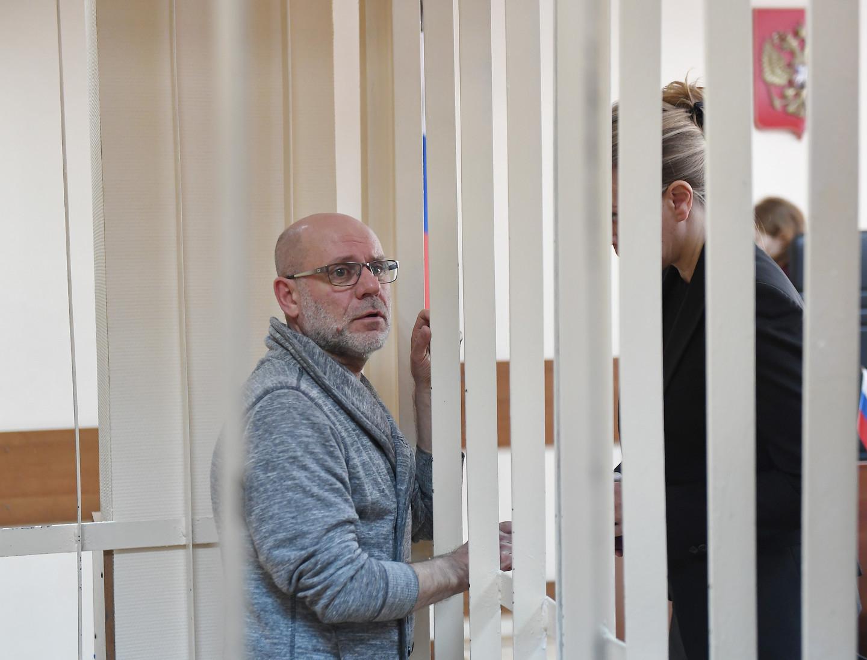 <p><span>Алексей Малобродский в зале суда. Фото: &copy;РИА Новости/Евгения Новоженина</span></p>