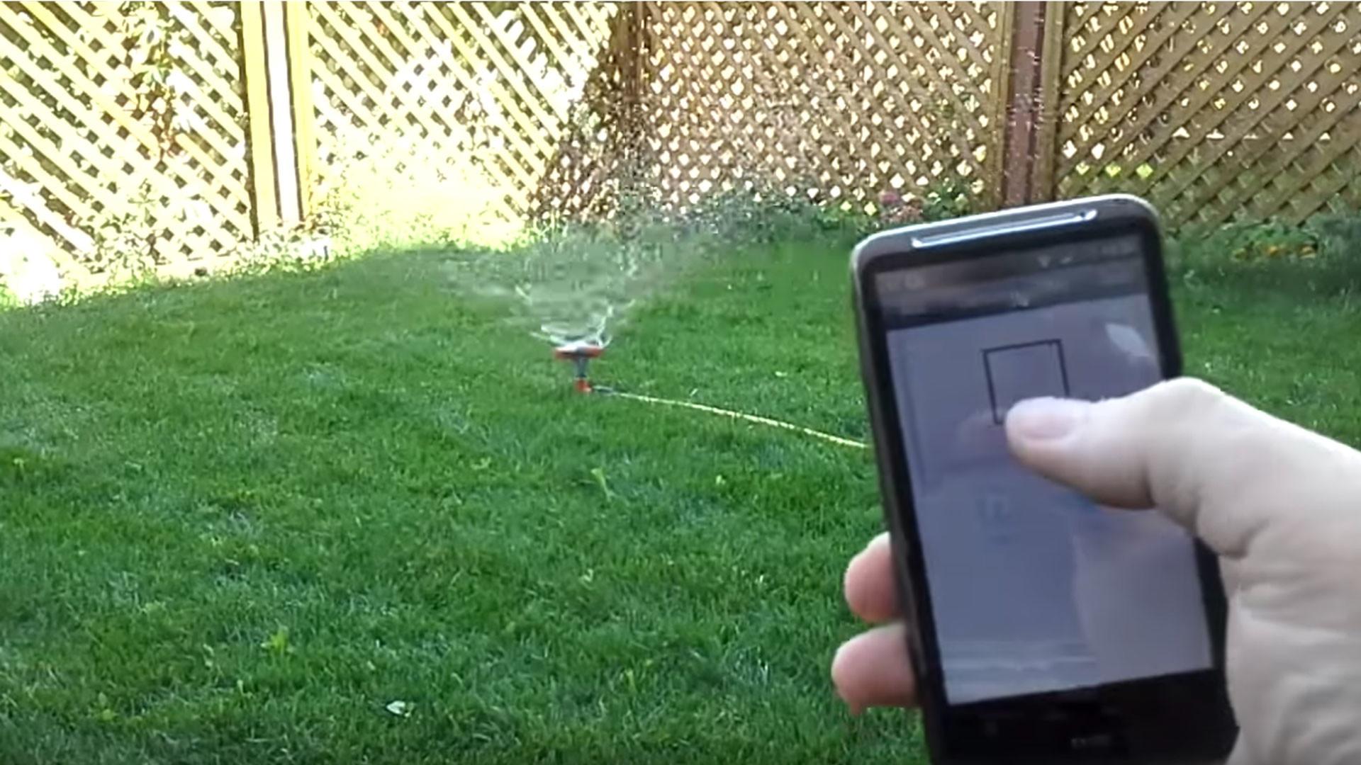 Управление поливом через Интернет. Скриншот видео: youtube/VADIM ASTAKHOV