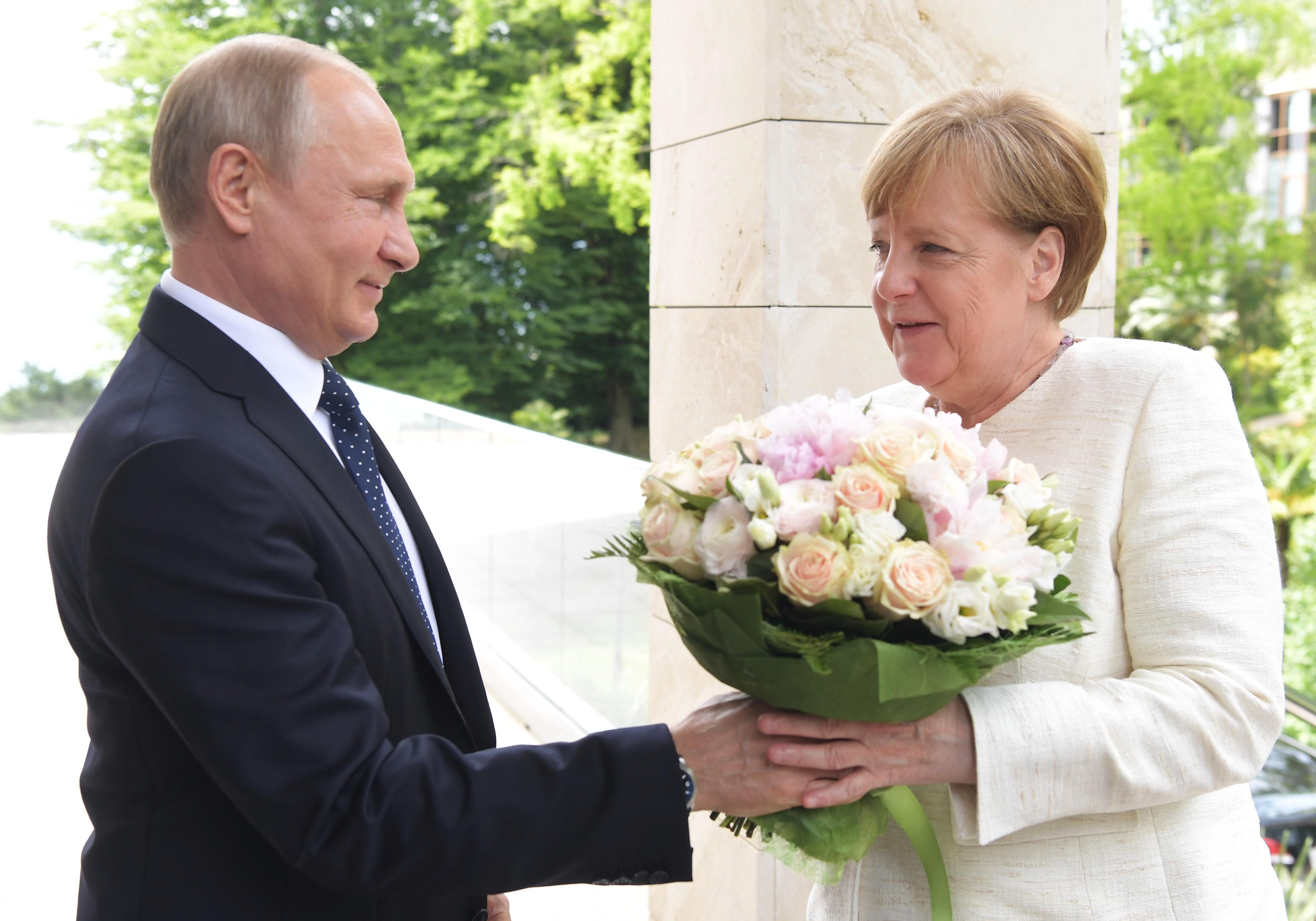 <p>Владимир Путин и Ангела Меркель. Фото: &copy; РИА Новости / Сергей Гунеев</p>