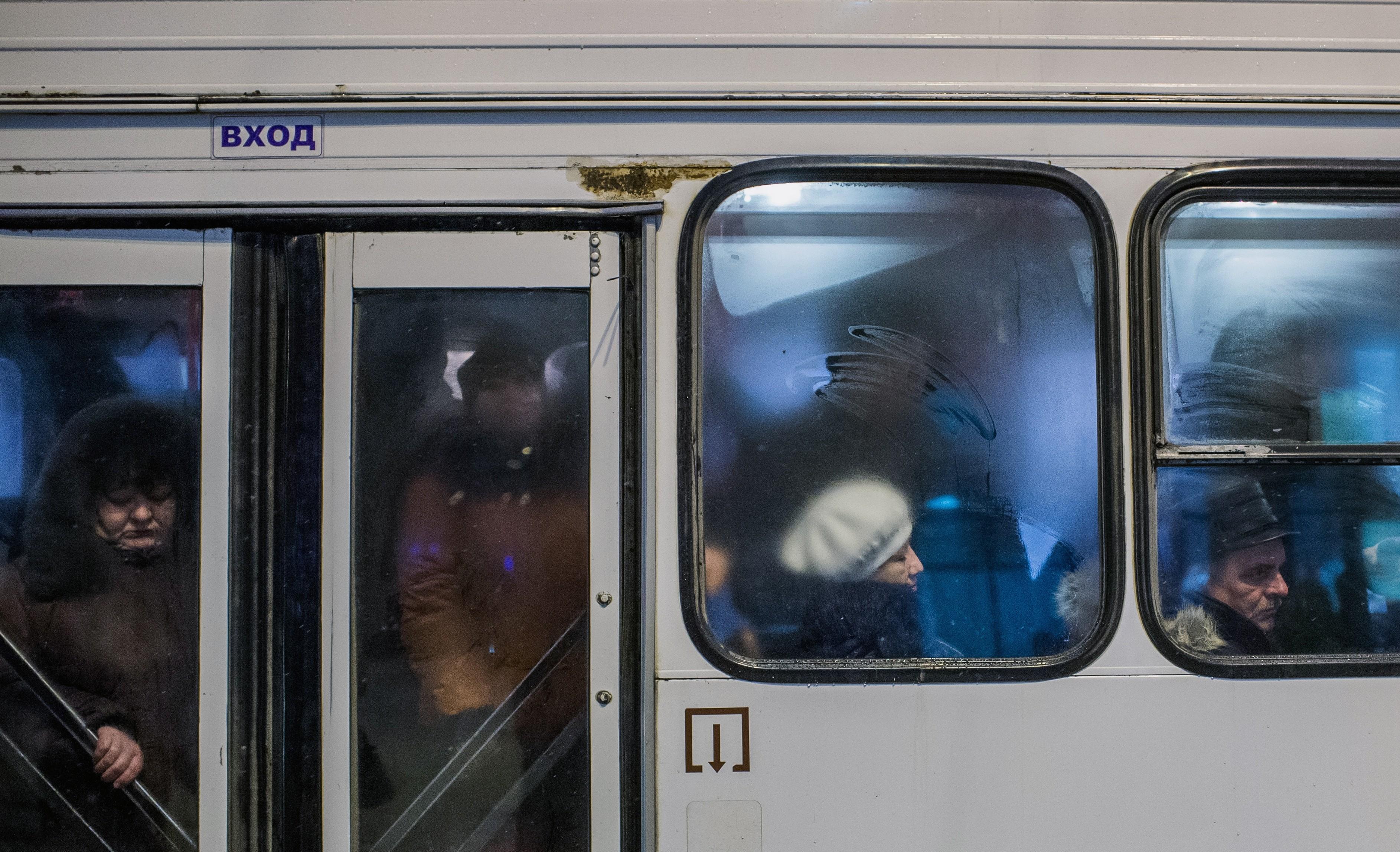 "<p><span>Пассажиры в салоне автобуса.&nbsp;</span><span>&copy;&nbsp;</span><span>РИА ""Новости""/Алексей Мальгавко</span></p>"
