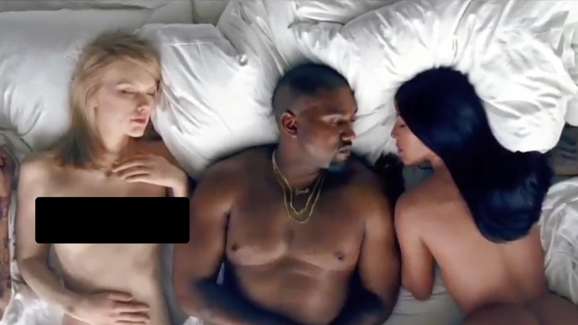 """Кадр из клипа """"Famous"""" @ YouTube/KanyeWestVEVO"""