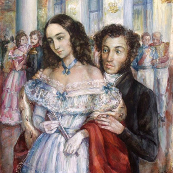 Александр Пушкин с Натальей Гончаровой. Фото © Wikimedia Commons