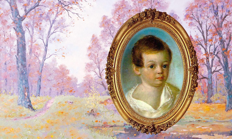 Александр Пушкин в детстве. Коллаж © L!FE. Фото © Wikimedia Commons