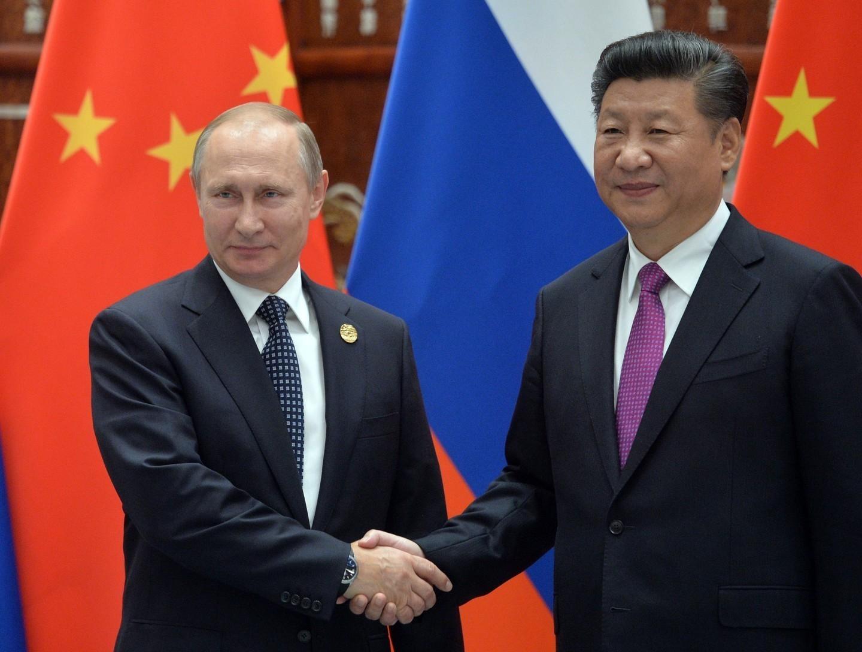 <p><span>Президент РФ Владимир Путин (слева) и председатель КНР Си Цзиньпин. Фото: &copy;РИА Новости/Алексей Дружинин</span></p>