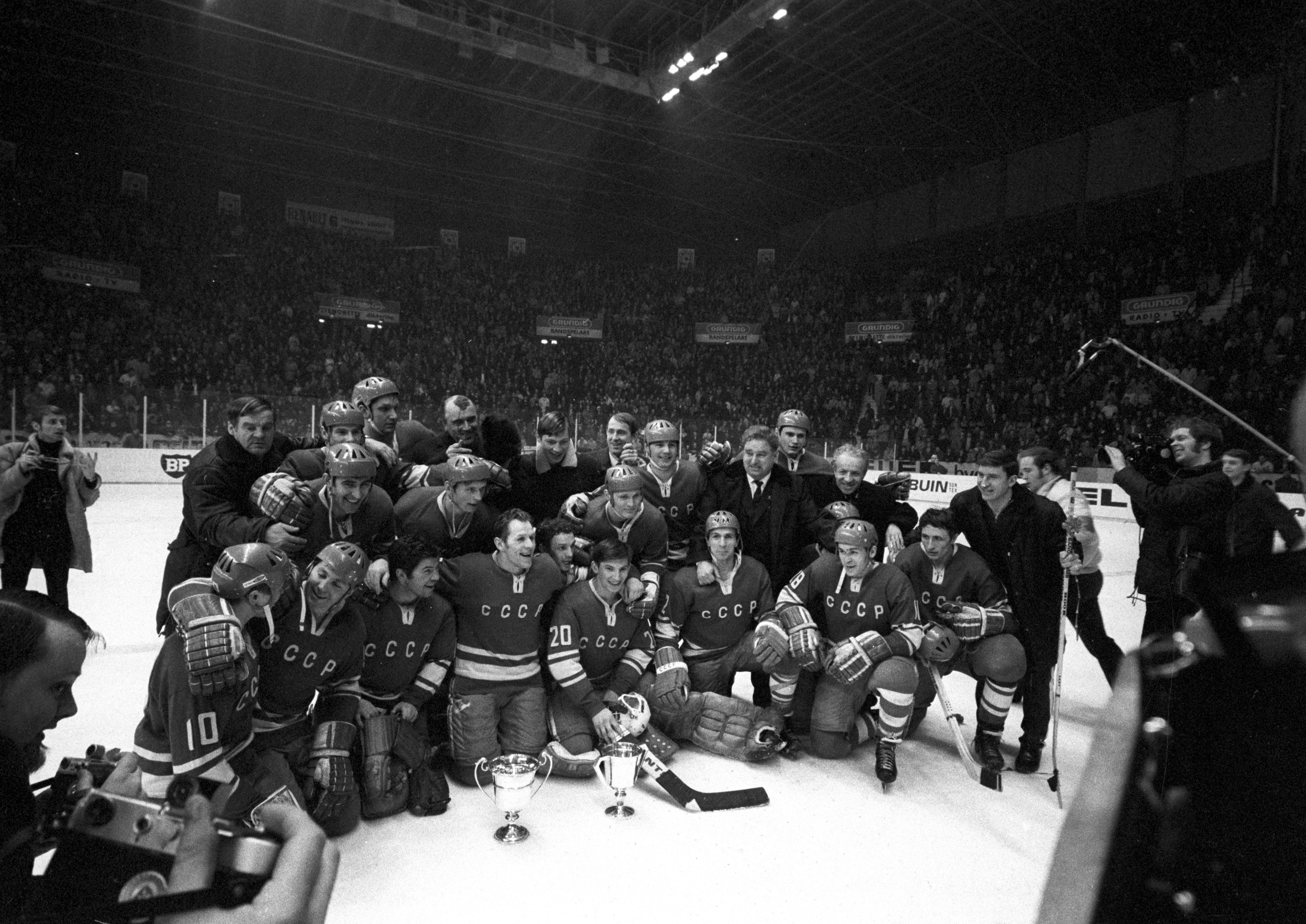 Сборная СССР по хоккею — чемпион мира 1970 года. Фото: © РИА Новости/Юрий Сомов