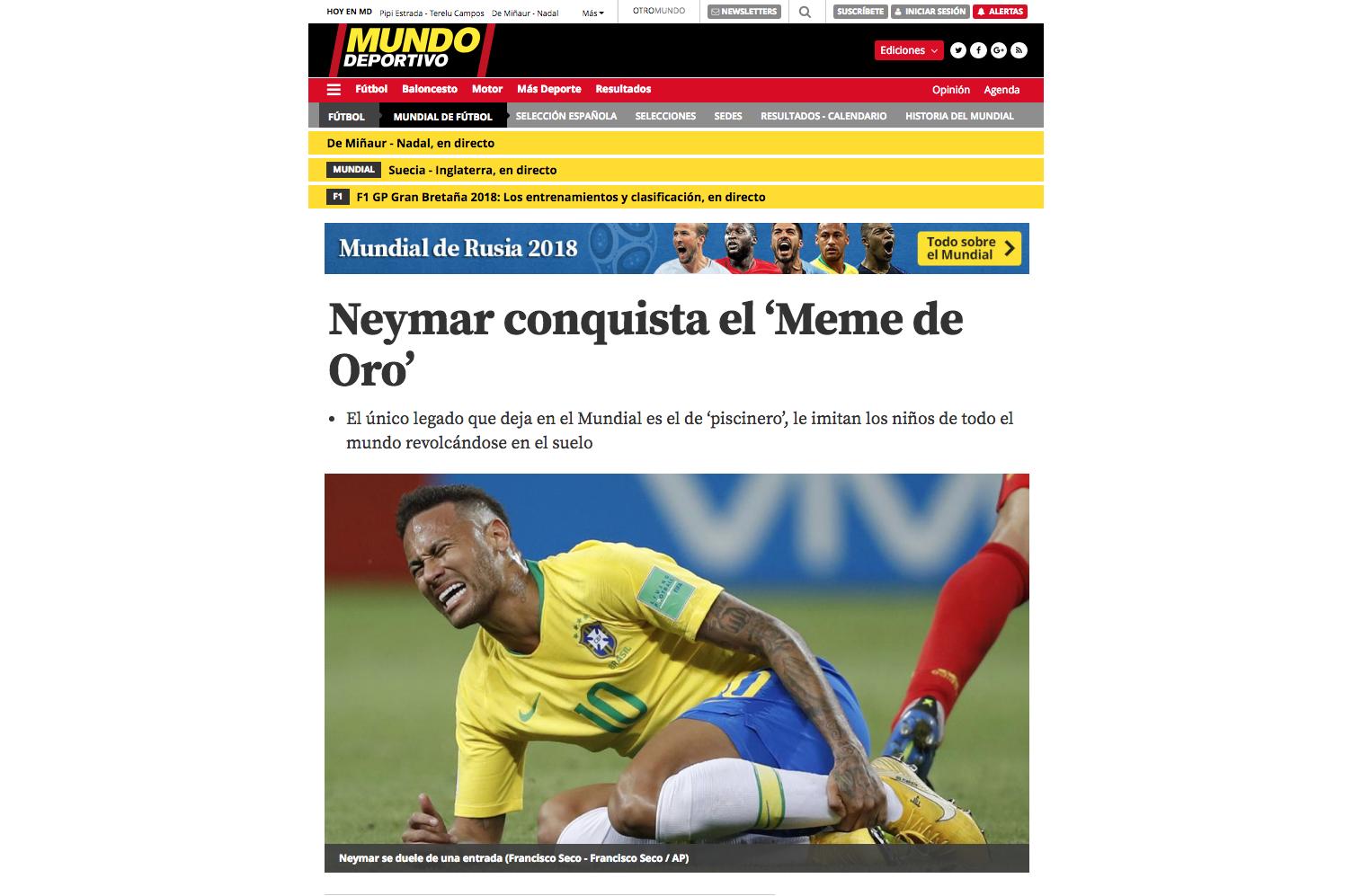 Фото: © скриншот mundodeportivo.com