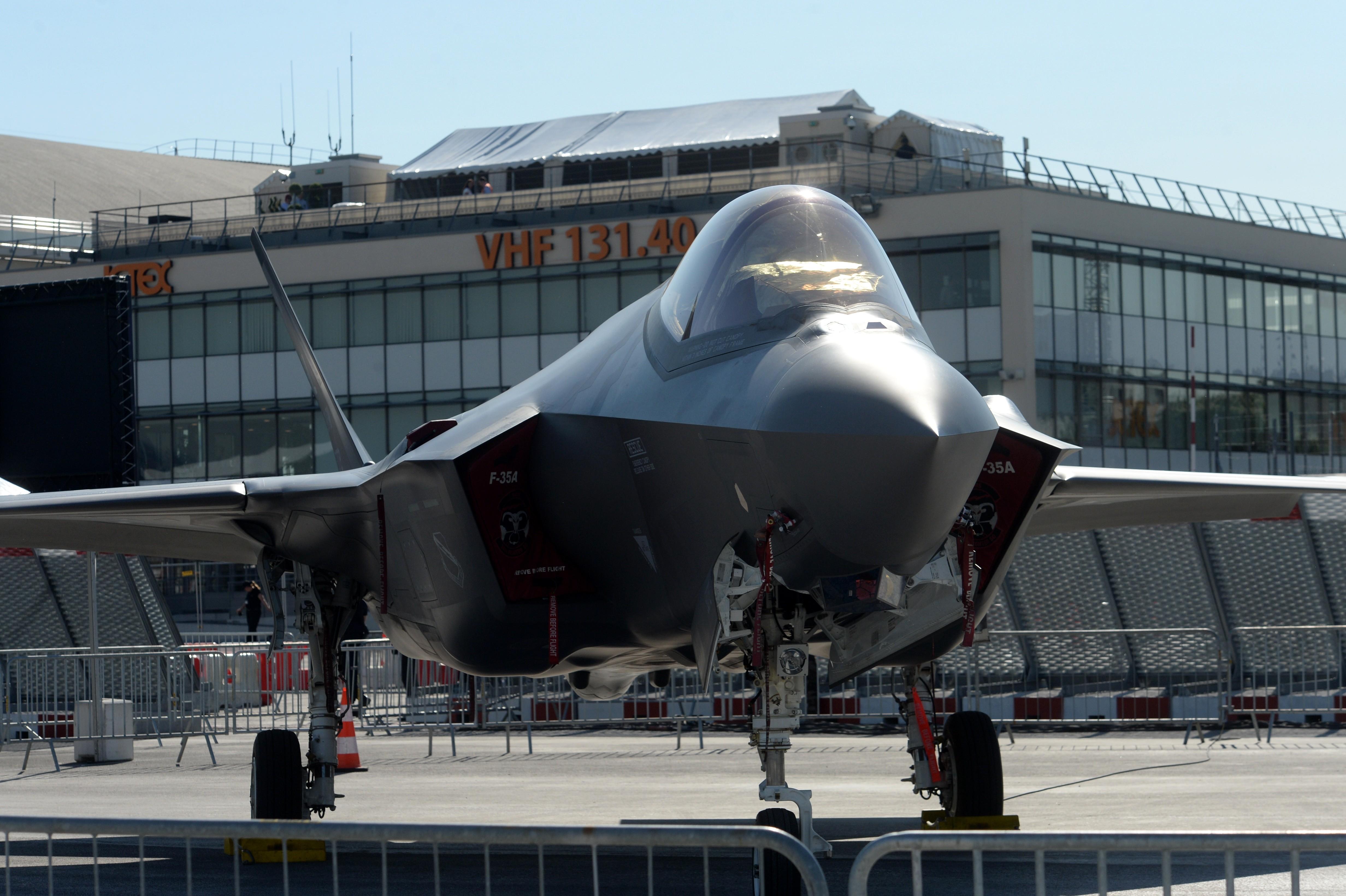 <p><span>Истребитель-бомбардировщик Lockheed Martin F-35 Lightning II.&nbsp;Фото &copy; РИА Новости/Сергей Мамонтов</span></p>