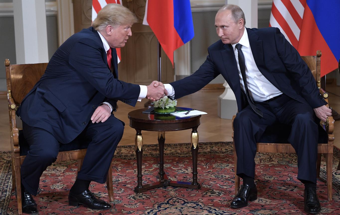 <p>Дональд Трамп и Владимир Путин. Фото: &copy;РИА Новости/Алексей Никольский</p>