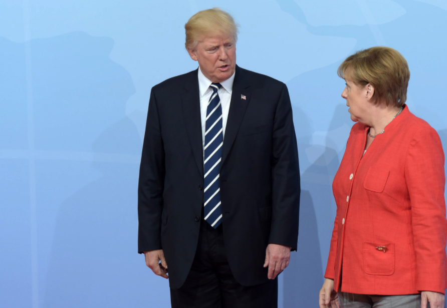 <p><span>Президент США Дональд Трамп и канцлер Германии Ангела Меркель. Фото: &copy; РИА Новости/Дмитрий Азаров&nbsp;</span></p>