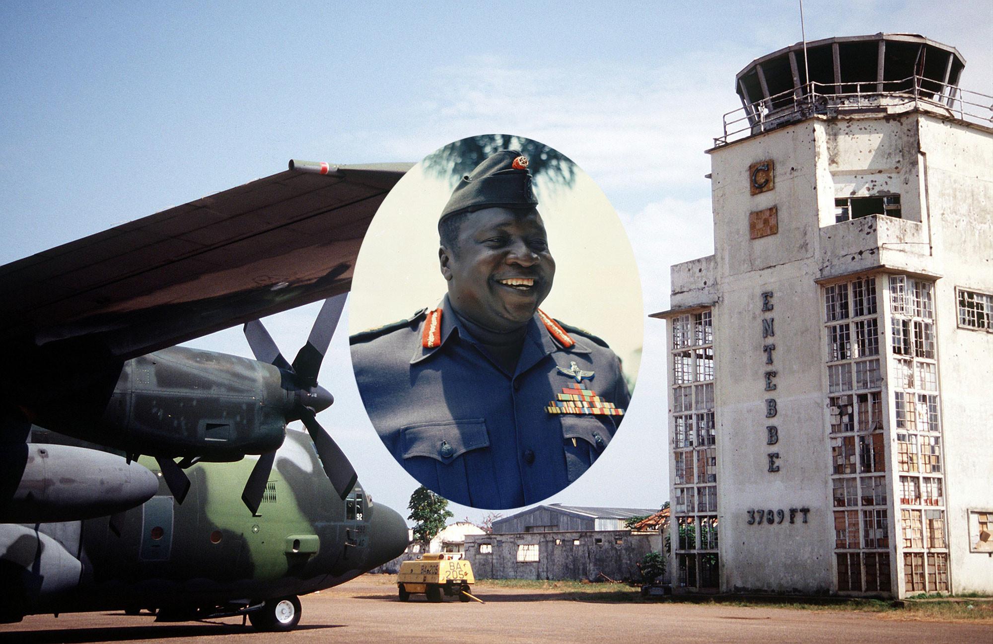 Диктатор Иди Амин; Аэропорт Энтеббе. Коллаж © L!FE Фото: © AP, Wikipedia.org