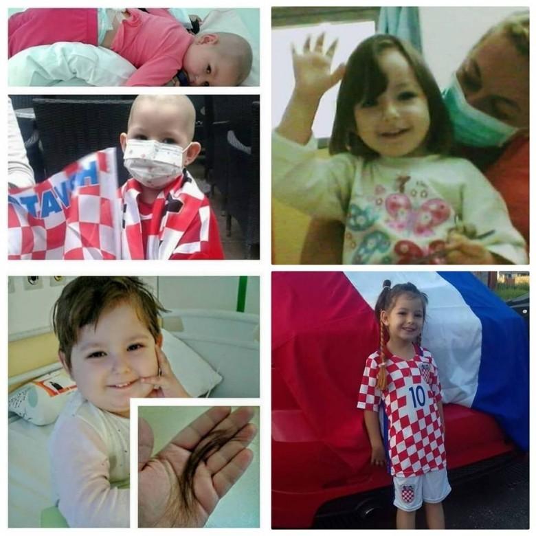 Пятилетняя болельщица Луки Модрича Селена Буньяи. Фото © Dubrovnik Insider