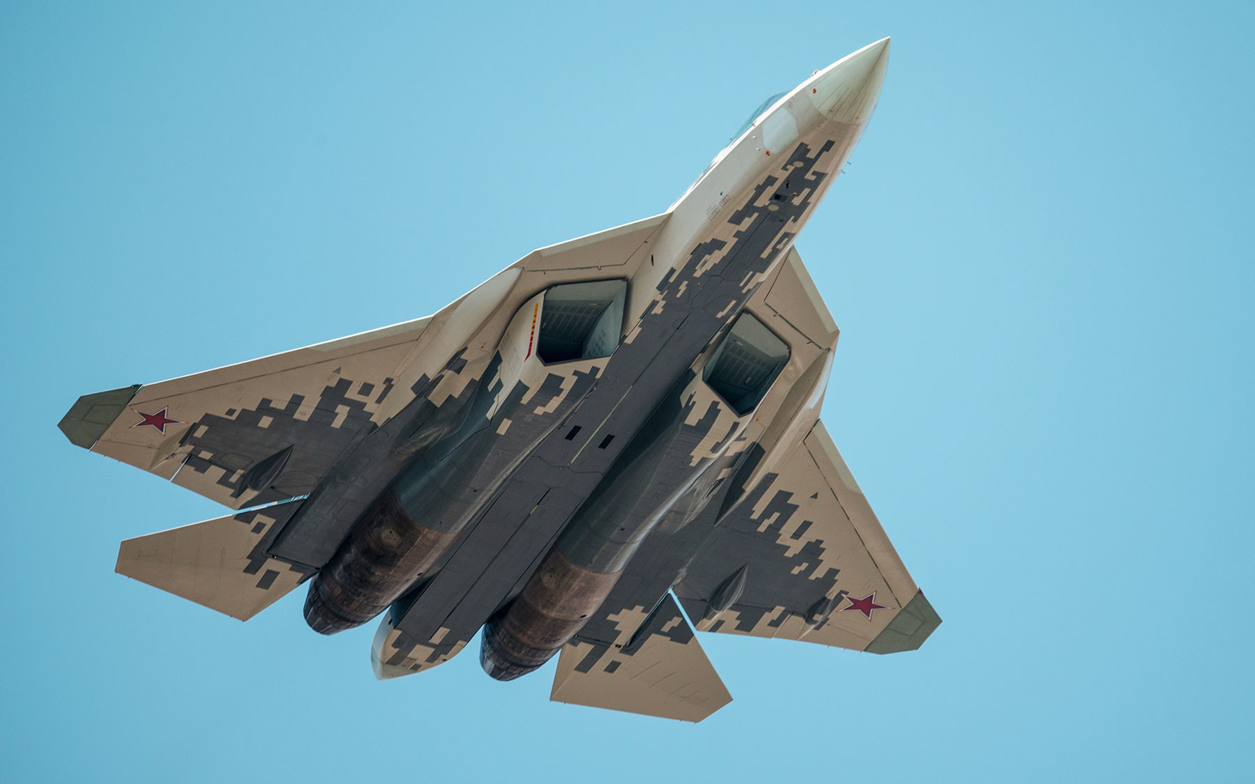 Многофункциональный истребитель Су-57. Фото: © РИА Новости / Владимир Сергеев