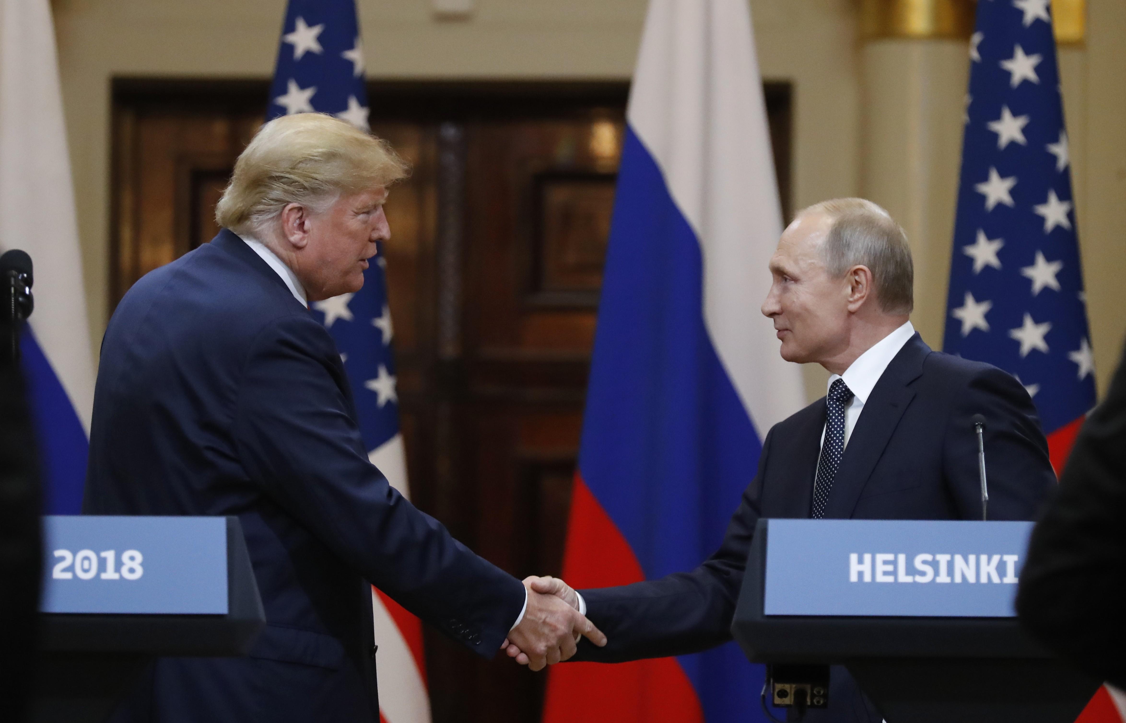 <p>Дональд Трамп и Владимир Путин. Фото: &copy;РИА Новости/Сергей Гунеев</p>