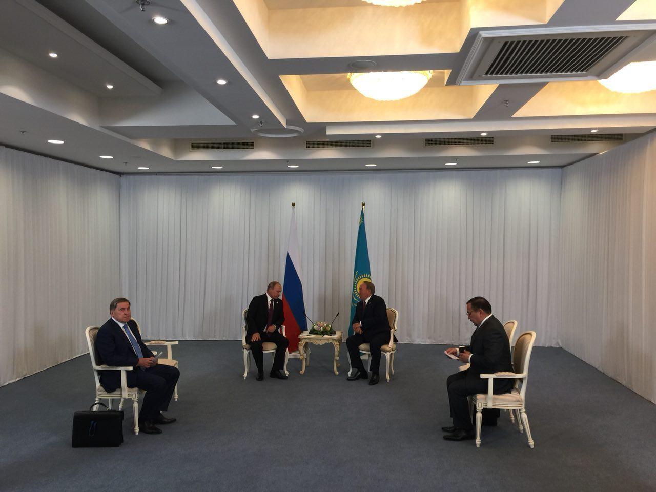 Встреча Владимира Путина и Нурсултана Назарбаева. Фото: ©L!FE/Павел Баранов