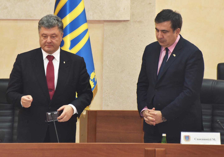 <p><span>Президент Украины Пётр Порошенко и Михаил Саакашвили. Фото: &copy; РИА Новости/Денис Петров</span></p>