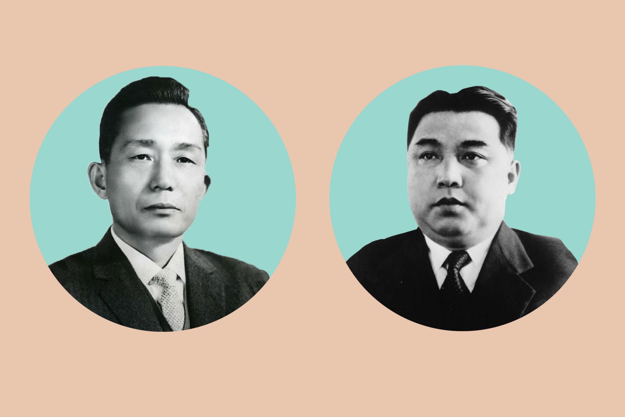 Пак Чон Хи и Ким Ир Сен. Коллаж © L!FE Фото: © Wikipedia.org