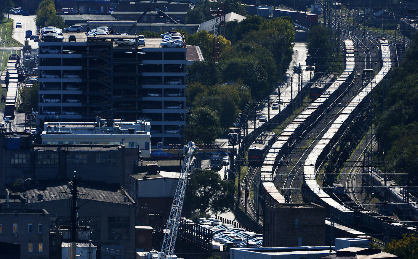 <p><span>Железнодорожные составы на участке Транссибирской железнодорожной магистрали во Владивостоке.&nbsp;Фото: &copy; РИА &ldquo;Новости&rdquo; /&nbsp;&nbsp;Виталий Аньков</span></p>