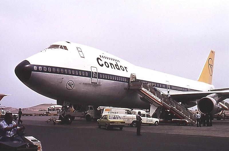 Разбившийся самолёт в 1978 году (в период работы в Condor Airlines). Фото: © Википедия