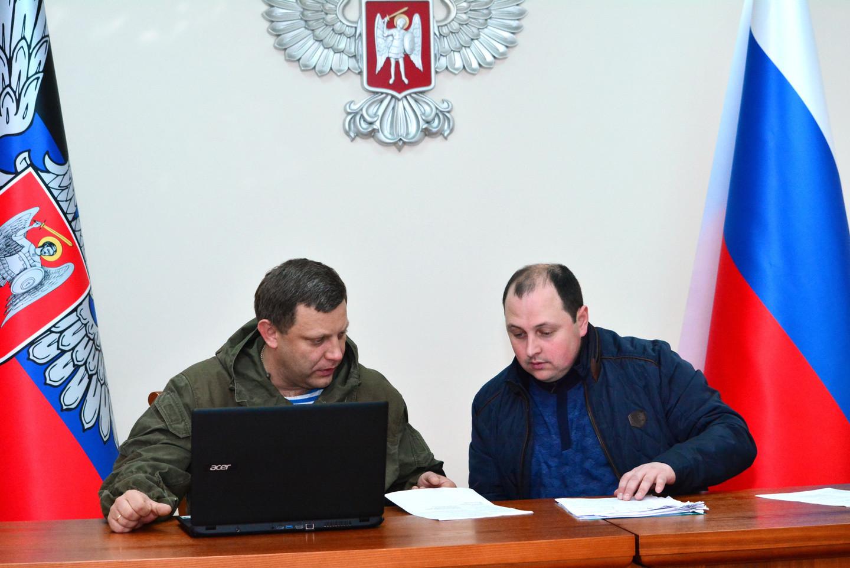 Александр Захарченко (слева) и Дмитрий Трапезников. Фото © РИА Новости / Игорь Маслов