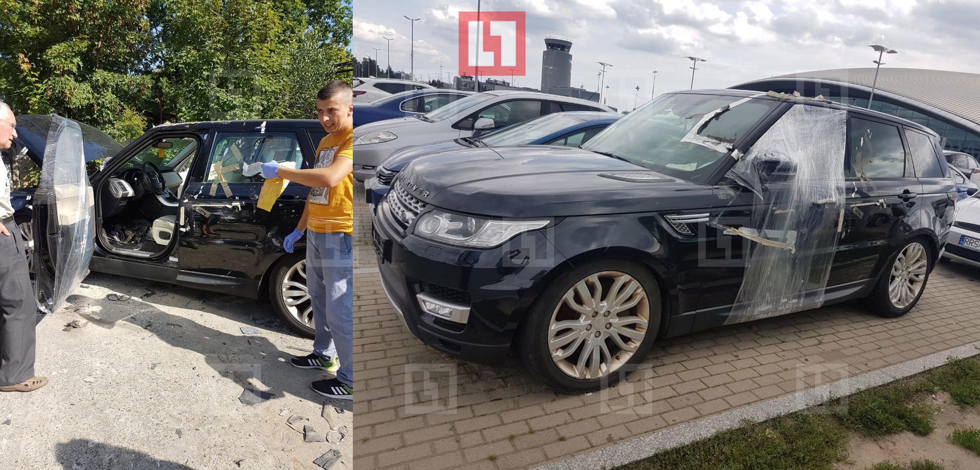 Польская полиция осматривает машину Алекса Лесли. Фото: © L!FE