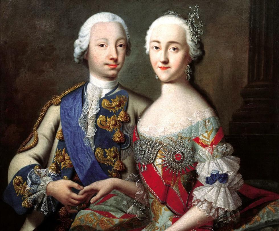Пётр III и Екатерина II. Фото © Wikimedia Commons