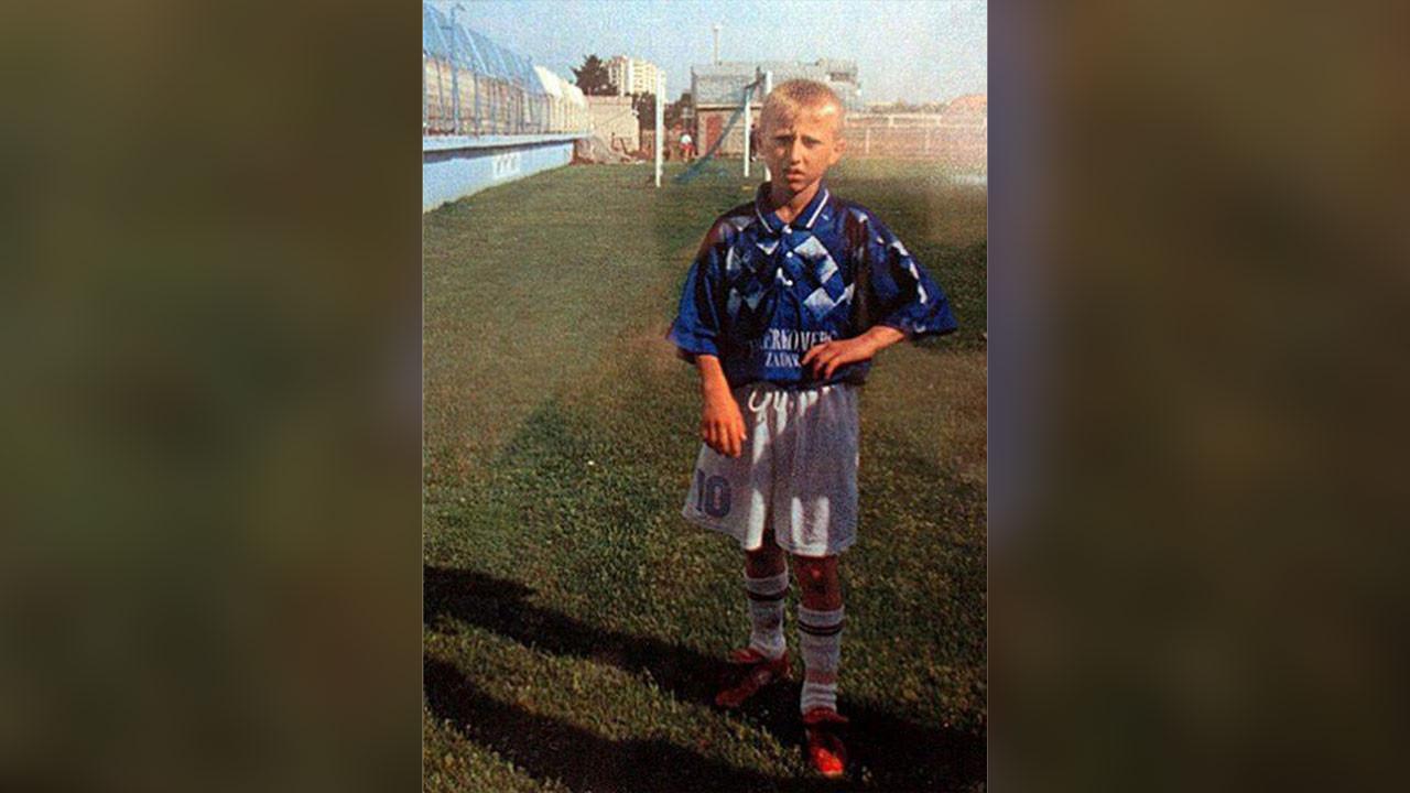 Модрич в детстве. Фото: © Соцсети