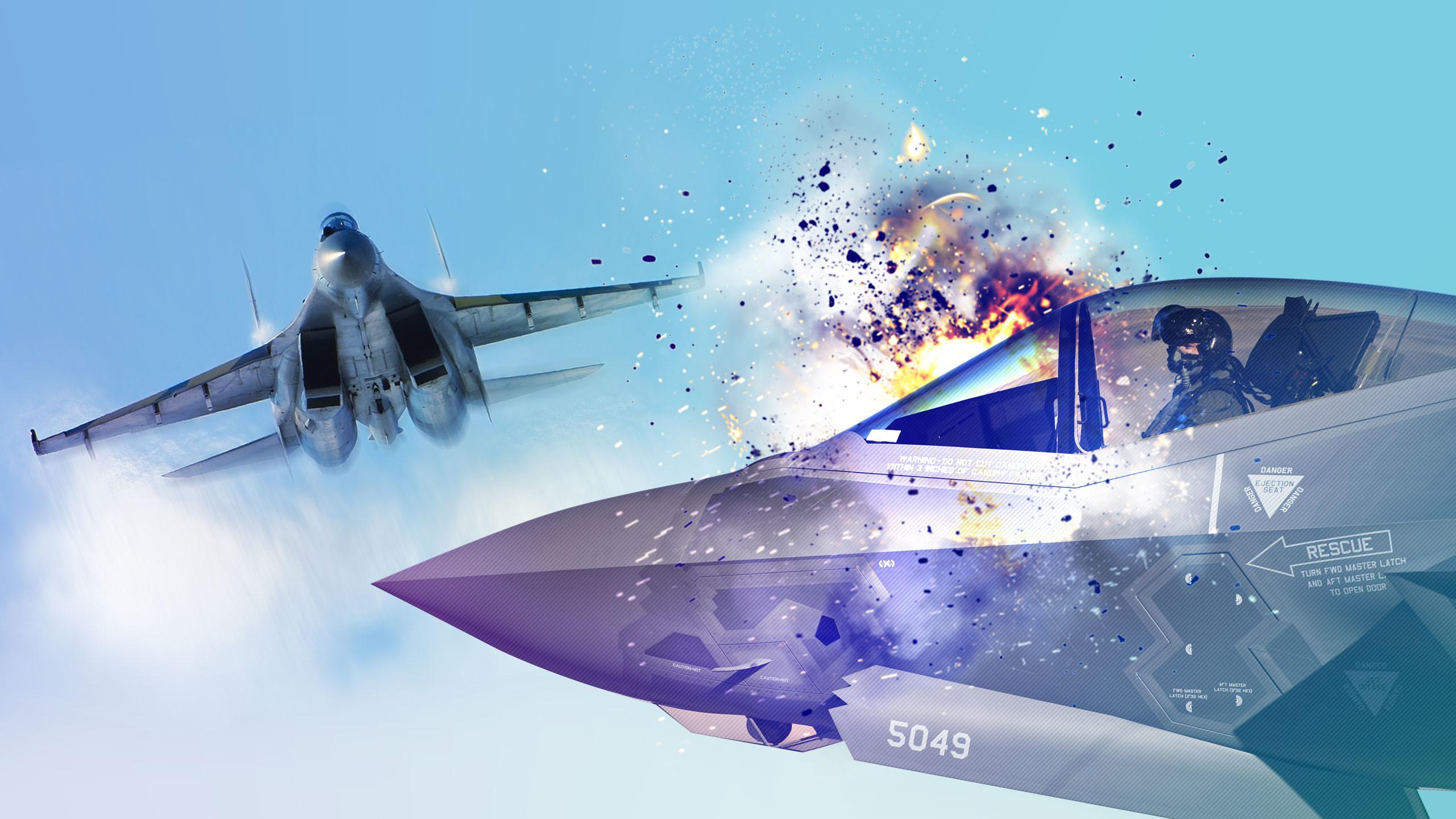 "<p>Фото: &copy;&nbsp;<span><a href=""https://commons.wikimedia.org/wiki/File:Sukhoi_Su-35S_at_MAKS-2011_airshow.jpg"" target=""_blank"" data-noload="""" data-ved=""2ahUKEwjy_ObN_t_dAhWOt4sKHcgNAYwQjB16BAgBEAQ"">Wikimedia Commons</a>,&nbsp;<a href=""https://www.nellis.af.mil/News/Article/664803/f-35-arrival-begins-new-era-at-usafws/"" target=""_blank"" data-noload="""" data-ved=""2ahUKEwjahKXFguDdAhXJk4sKHQFSA0YQjB16BAgBEAQ"">Nellis Air Force Base - Air Force</a></span></p>"