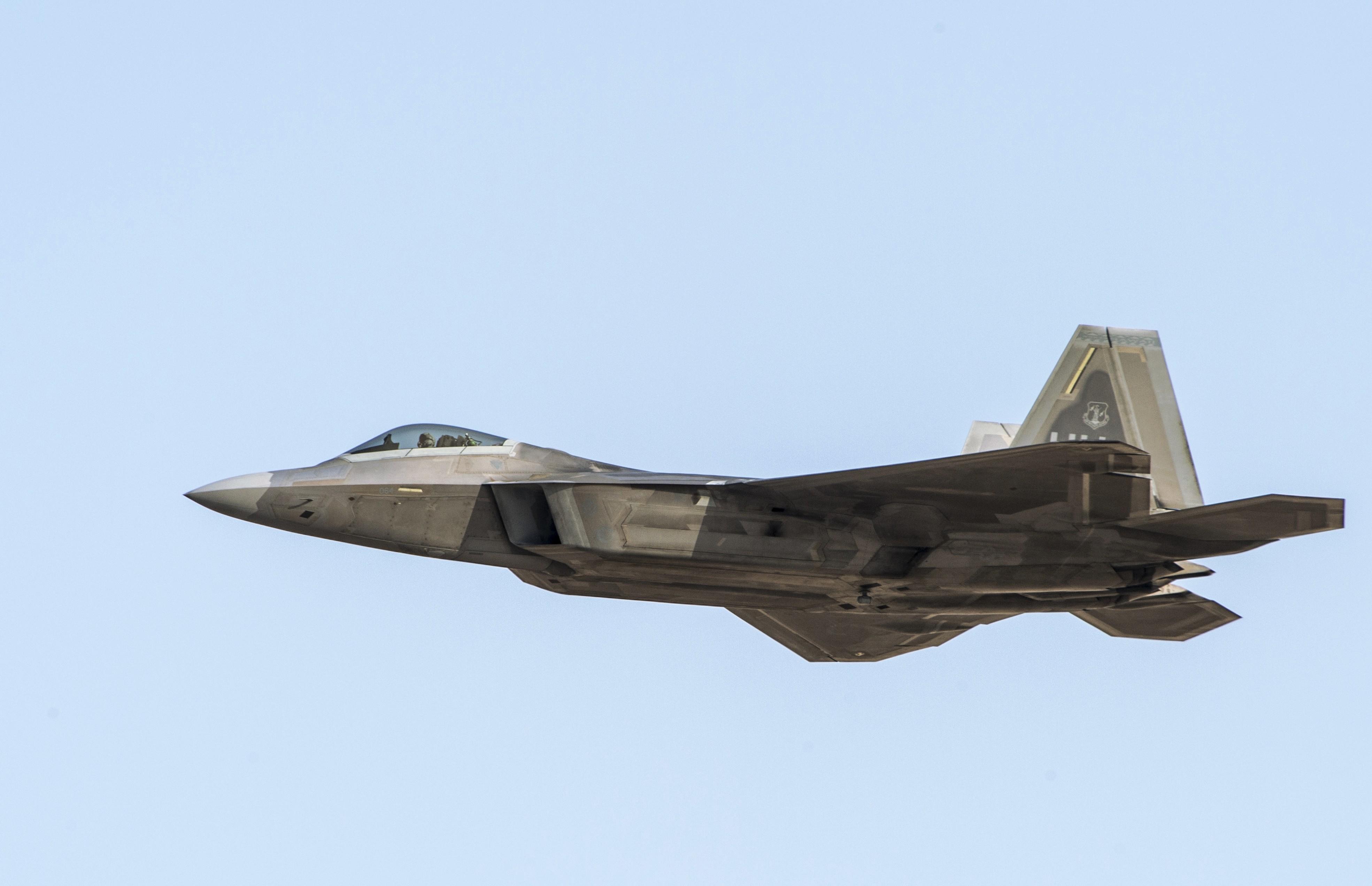 <p>Истребитель F-22 ВВС США. Фото: РИА Новости/Евгений Биятов</p>
