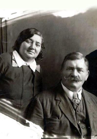 Иван Поддубный со второй женой Марией Семёновной Машониной