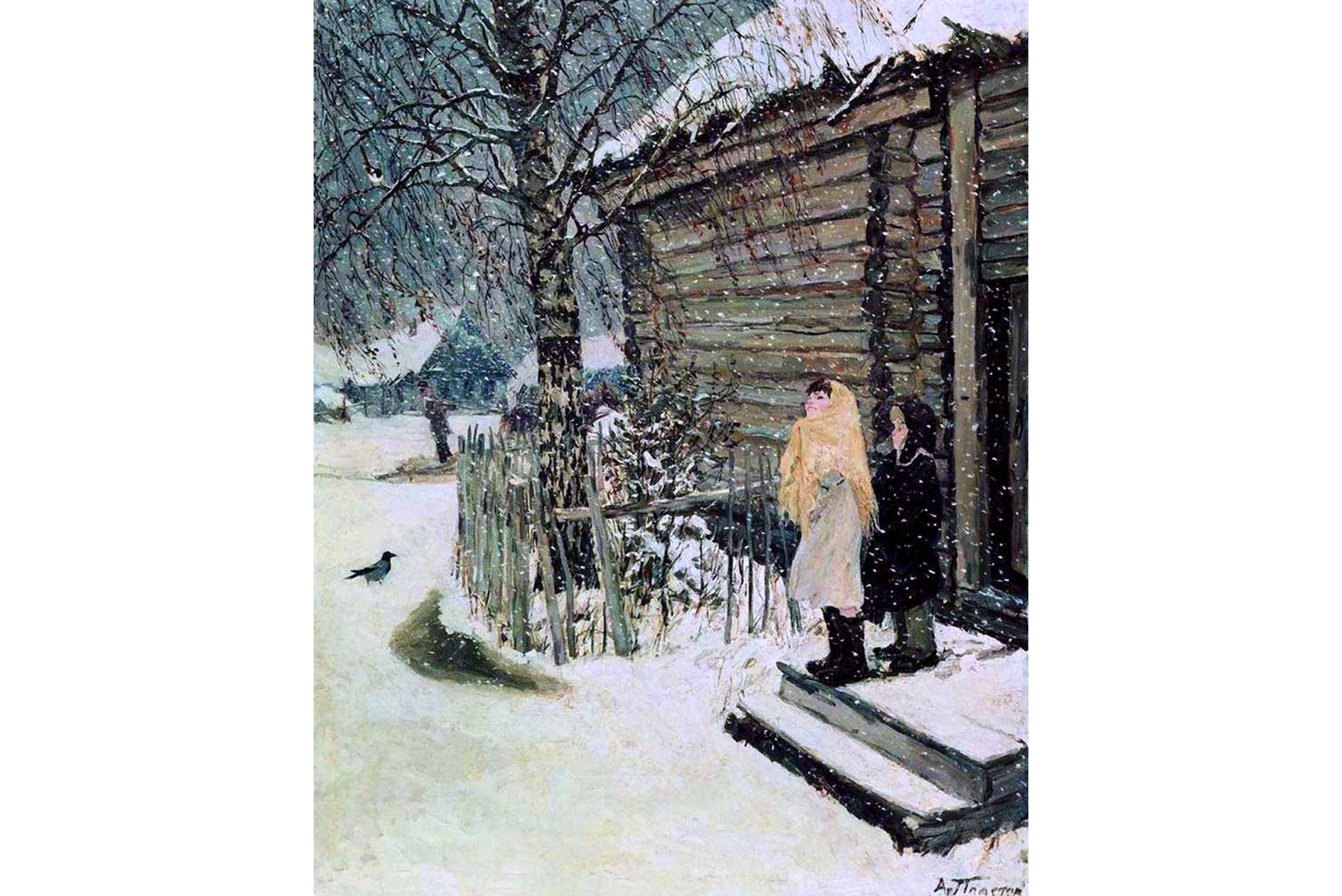 "Аркадий Пластов ""Первый снег"". 1946 год. Фото: © Wikipedia.org"