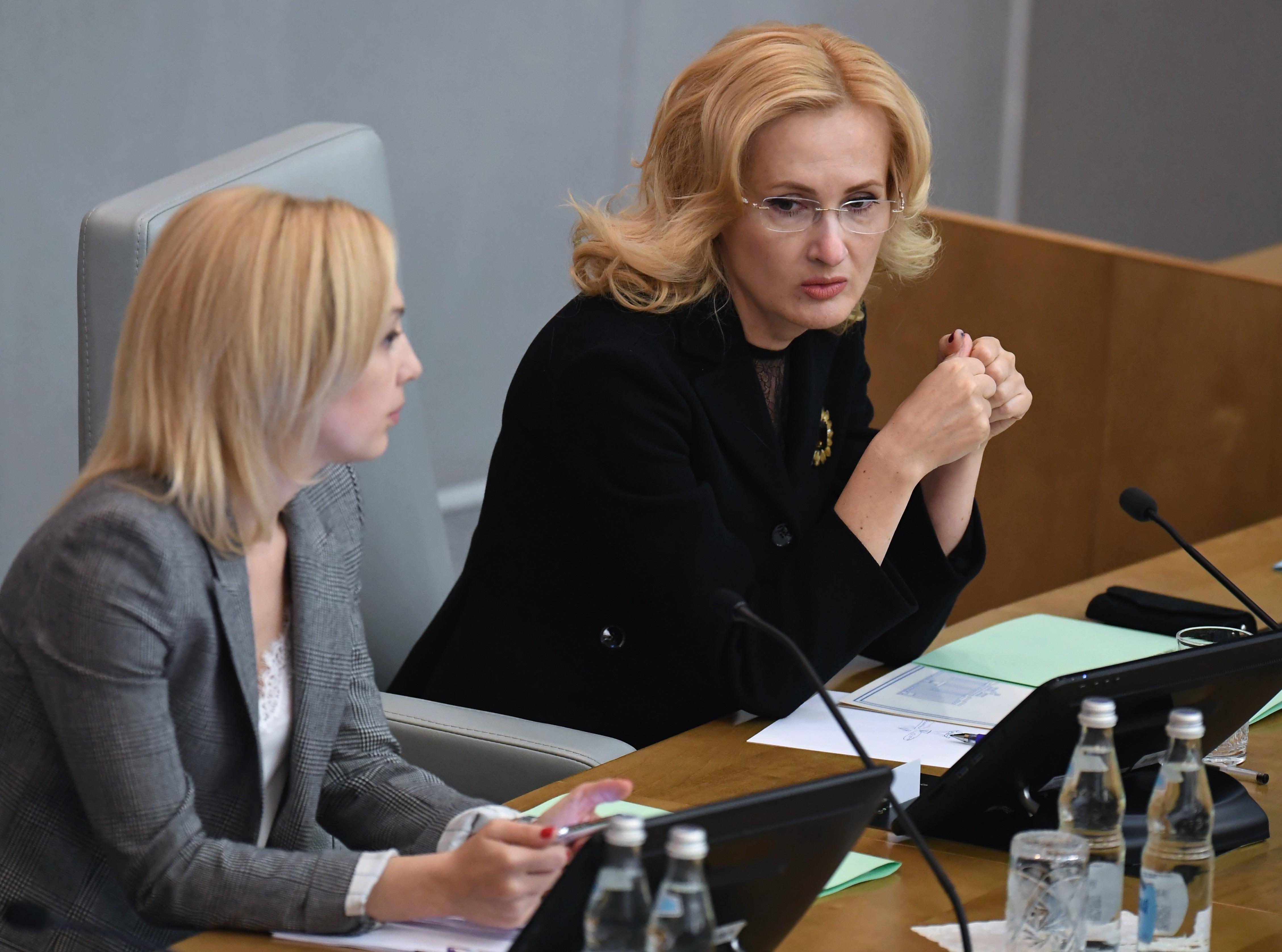 Ирина Яровая (справа). Фото ©РИА Новости / Илья Питалев