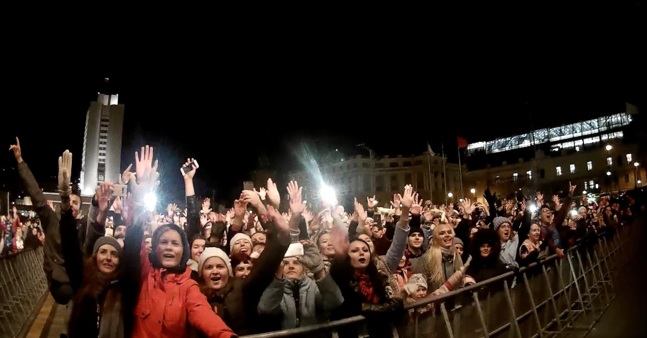 """Зрители на концерте """"Мумий Тролля"""" во Владивостоке в День народного единства. Фото: © Яков Юдин"""
