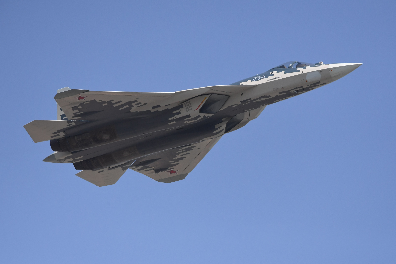 <p>Многофункциональный истребитель Су-57. Фото: &copy;РИА Новости/Илья Питалев</p>