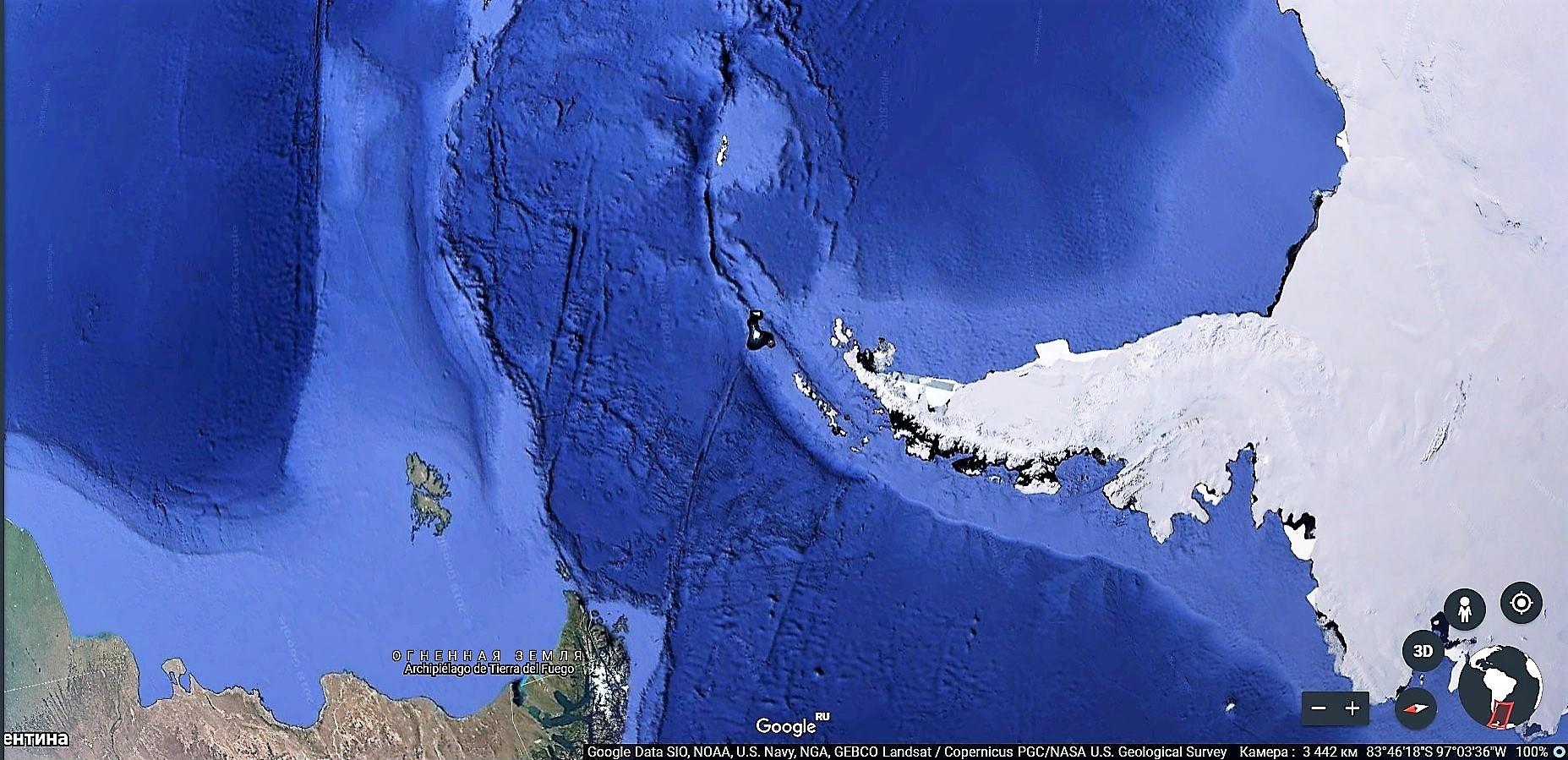 Скриншот: Google Earth