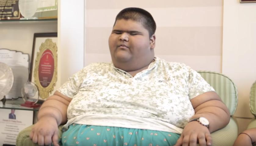 парень подросток похудел