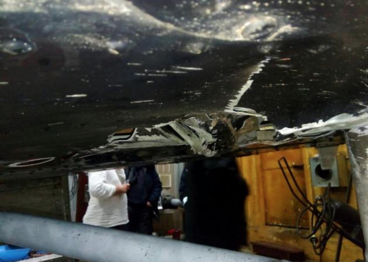 Январское повреждение Ми-8. Фото: © Росавиация