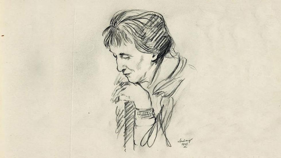 <p><span>Анна Ахматова. Зарисовка Александра Тышлера</span></p>