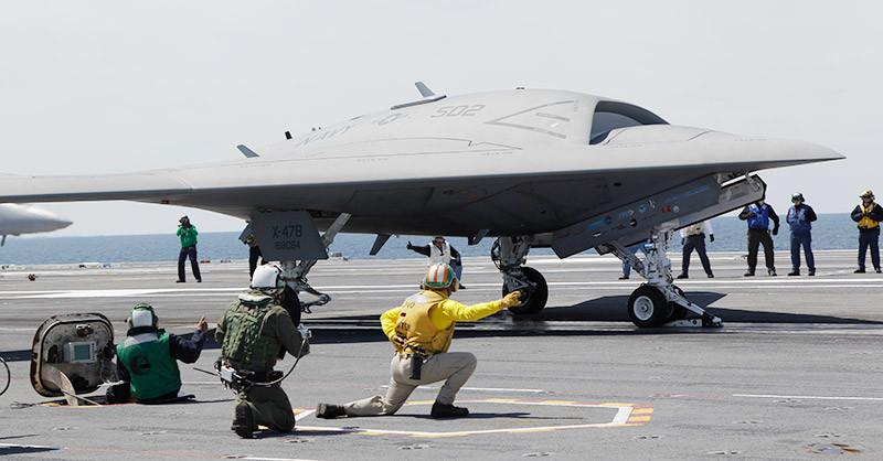 БПЛА X-47B. Фото © AP Photo/Steve Helber