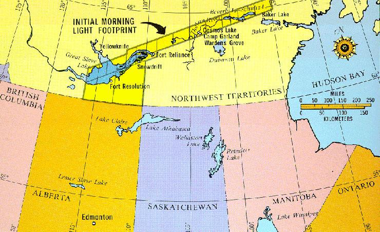 Карта области падения осколков. Фото © Wikimedia Commons