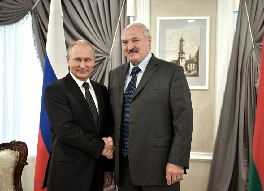 <p>Президент РФ Владимир Путин и президент Белоруссии Александр Лукашенко. Фото: © РИА Новости/Сергей Гунеев</p>
