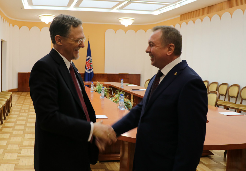 <p>Владимир Макей и Джордж Кент. Фото: © МИД Республики Беларусь.</p>